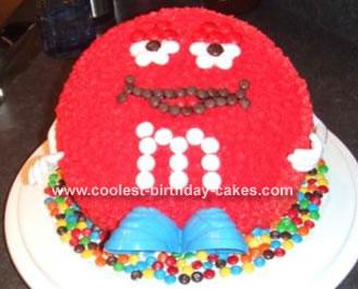 M&M Character Cake