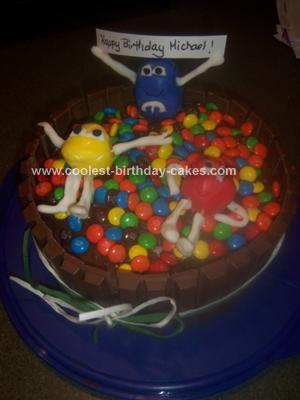 Homemade M&Ms Cake