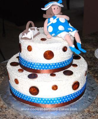 Homemade Mom To Be Cake