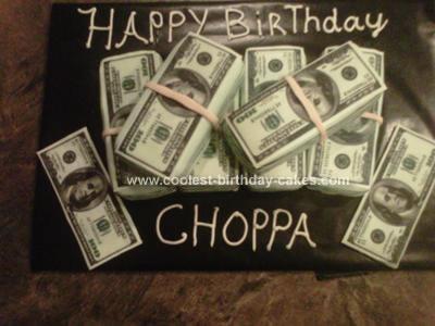 Homemade Money Stack Cake