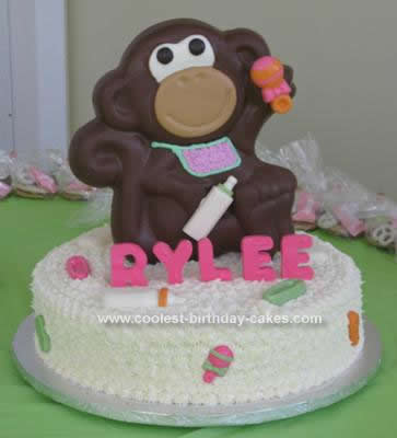 Homemade Monkey Baby Shower Cake