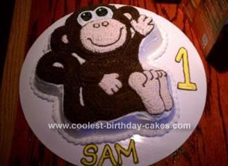 Homemade Monkey Birthday Cake