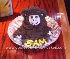 Homemade Monkey Birthday Cake
