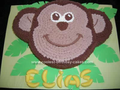 Homemade Monkey Birthday Cake Design