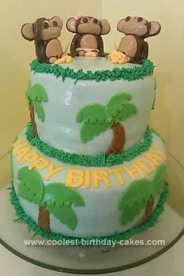 Miraculous 15 Cool Diy Monkey Cake Designs For The Birthday Cake Enthusiast Funny Birthday Cards Online Amentibdeldamsfinfo