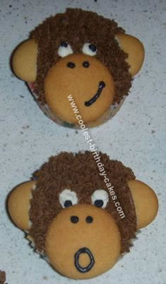 Monkey Birthday Cupcakes