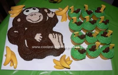 Homemade Monkey Cake and Cupcakes