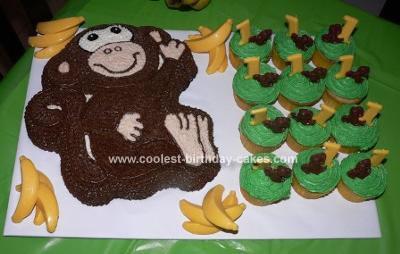 Homemade Monkey Cake And Cupcakes