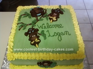 Homemade Monkey Cake Design