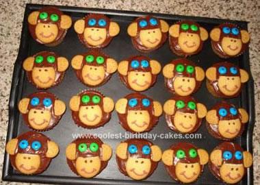 Homemade Monkey Cupcakes