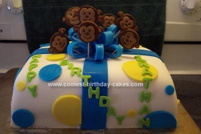 Homemade Monkey Gift Cake