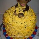 Homemade Monkey Goes Bananas Birthday Cake