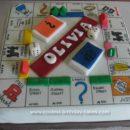 Homemade Monopoly Board Cake