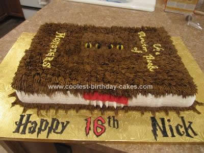Homemade Monster Book of Monsters Birthday Cake