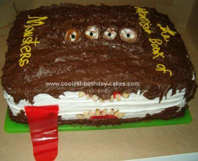 Homemade Monster Book of Monsters Cake from Harry Potter