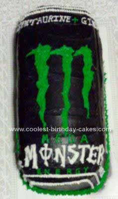 Homemade Monster Energy Cake