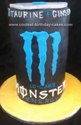 Homemade Monster Energy Drink Cake