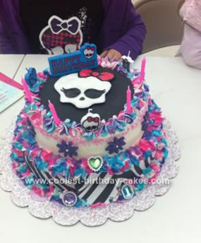 Pleasing Coolest Monster High Birthday Cake Funny Birthday Cards Online Fluifree Goldxyz