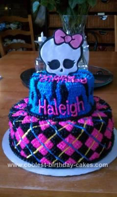 Homemade Monster High Birthday Cake