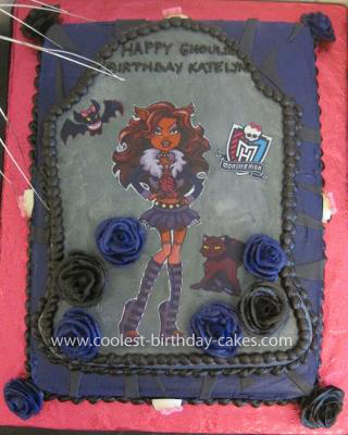 Homemade Monster High Cake
