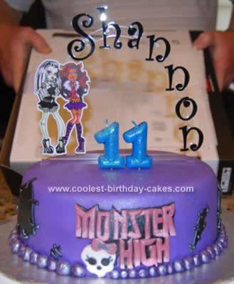 Homemade Monster High Cake