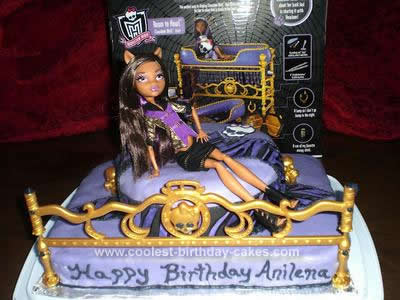 Homemade Monster High Clawdeen Wolf Cake