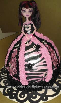 Fabulous Coolest Monster High Doll Cake Personalised Birthday Cards Sponlily Jamesorg