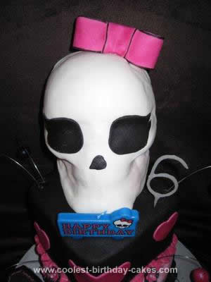 Homemade Monster High Draculaura Birthday Cake