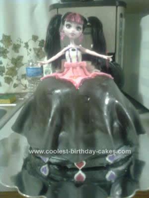 Homemade Monster High Princess Birthday Cake