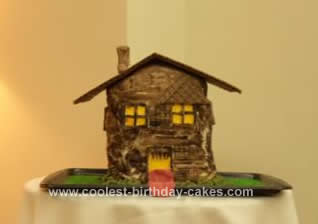 Homemade Monster House Cake