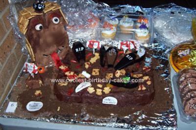 Monster House Cake
