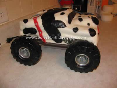 Homemade Monster Mutt Dalmatian Birthday Cake