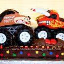 Homemade Monster Mutt & El Toro Loco Truck Cake