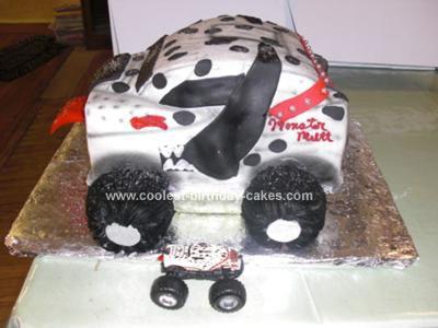 Homemade Monster Mutt Truck Cake
