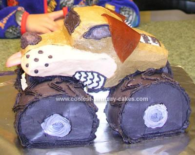 Homemade  Monster Truck Birthday Cake