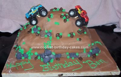 Homemade Monster Truck Birthday Cake