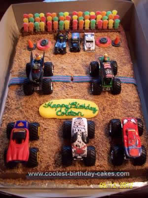 Astonishing Coolest Monster Truck Birthday Cake Funny Birthday Cards Online Elaedamsfinfo