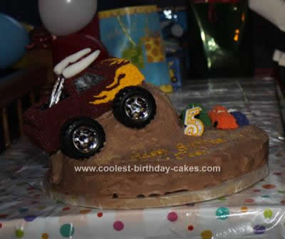 Homemade Monster Truck Birthday Cake Design