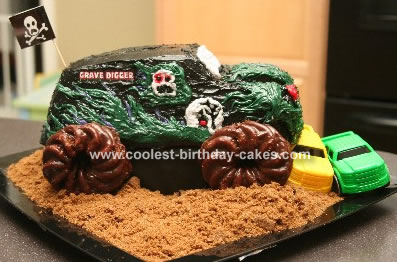 Incredible Coolest Monster Truck Cake Funny Birthday Cards Online Alyptdamsfinfo
