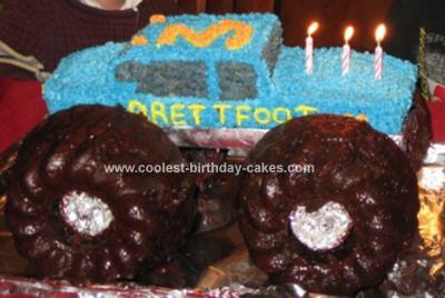 Homemade Allergy-Friendly Monster Truck Cake