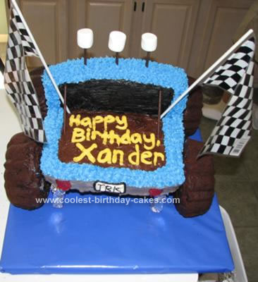 Homemade Monster Truck Cake