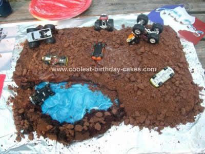Marvelous Coolest Monster Truck Dirt Cake Design Funny Birthday Cards Online Chimdamsfinfo