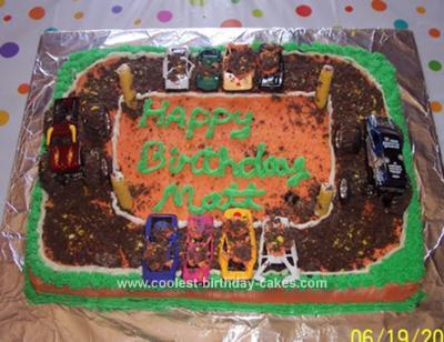 Homemade Monster Truck Jam Cake