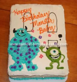 Homemade Monsters Inc Birthday Cake
