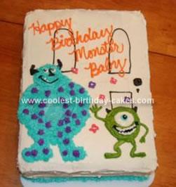 Homemade Monsters Inc Birthday Cake