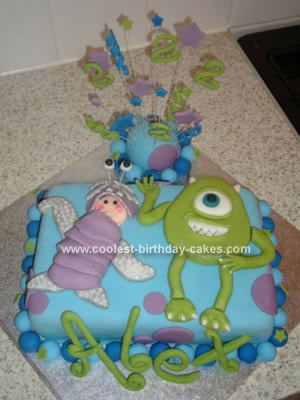 Admirable Coolest Monsters Inc Birthday Cake Personalised Birthday Cards Veneteletsinfo