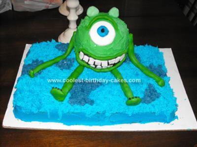 Homemade Monsters Inc. Cake