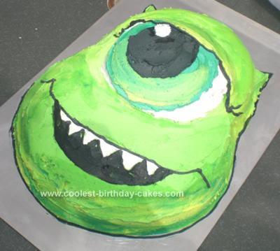 Homemade Monsters Inc Cake