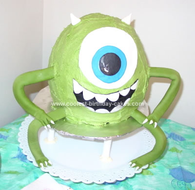 Homemade Monster Mike Cake