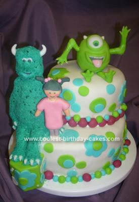 Homemade Monsters Incorporated Birthday Cake
